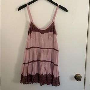 Free People Voile and Lace Slip in Size S